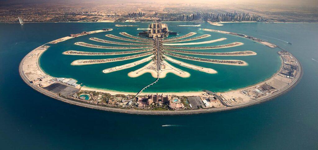جزیره نخل دبی بزرگترین جزیره مصنوعی جهان